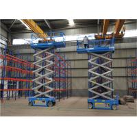 Quality Blue Color Mid Rise Scissor Lift Low Profile Scissor Lift Smooth Running for sale