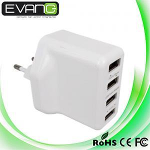 China 4000mAh 4 USB Ports EU/US/UK/AU Plug Home Travel Wall AC Power Charger Adapter For iPhone on sale