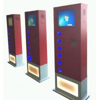 Quality Red CRS free standing cell phone charging kiosk with 14 e-lock charging box for sale