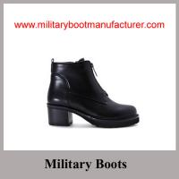 Quality Wholesale China Made Black Full Grain Leather Police Lady Officer Shoes for sale