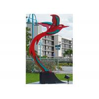 Quality Custom Modern Painted Public Art Stainless Steel Flying Bird Sculpture for sale
