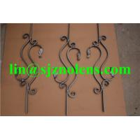 Quality H800*W230 MM Wrought Iron Balustrades,  16*8MM Flat iron Fence And Railing Pickets for sale