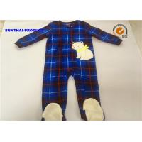 China Eco Friendly Baby Bear Pram Suit , Long Sleeve Zip Closure Infant Fleece Coveralls on sale