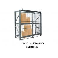 Visible / Ventilated Wire Mesh Pallet Cages , 8 Gauge Wire Shelving Security Cage