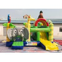 Quality Safari World Jungle elephant Inflatable Bouncy Castle for kids Outdoor N Indoor Playground Fun for sale