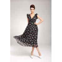 China Women' s Maxi Dress in Fruit Print on sale