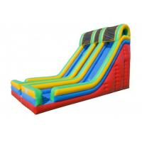 Quality 0.55mm PVC  Entertainment Large Inflatable Slide For Children OEM for sale