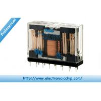 Quality NC4DP DC 12V Mini Power PCB Relay Electronics 4PDT 5A 200 Ohms 720 mW , 255-1999 for sale