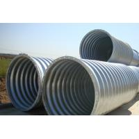 Quality Steel Pipe / Corrugated Steel Pipe Culvert is a flexible structure adapt to different terrain subsidence for sale
