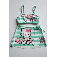 Quality 2017 so cute girls bikini pretty trip printed with Hello Kitty bikini swimming wear swimwear two piece bikini for sale