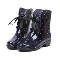 China Women fashion Lace up rain boots,garden boots on sale