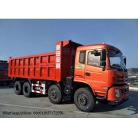 Quality DFD3318 Industrial Dump Truck , RHD / LHD 375HP 8x4 Tipper Truck Red Color for sale