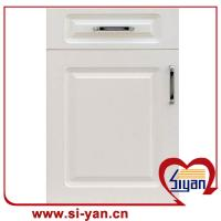 Kitchen Cabinet Doors Prices: White Wood Grain Hot Style Mdf Pvc Kitchen Cabinet Door