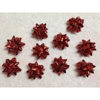 "Quality Professional Metallic and Holographic Mini Gift star bow 3 / 4"" diameter , 3mm width for sale"