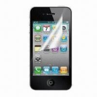 Quality Clear Screen Protector with Anti-scratch/-glare and Dust-/Waterproof Features, Ideal for iPhone 4 for sale