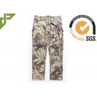 Multicam Camouflage Army Combat Pants , Military Men's Tactical Cargo Pants Slim Fit