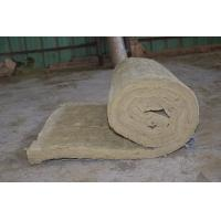 Quality Residential Rockwool Insulation Blanket With Wire Mesh / Fiberglass Cloth for sale