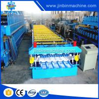 Quality Steel tile roof sheet metal profile glazed panel double layer making machine for sale