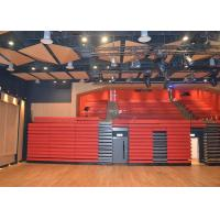 Upholstered Folding Seating System , Indoor Gym Bleachers Power Bench W / O Backrest