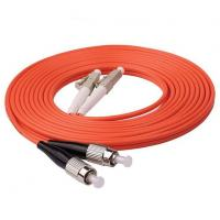 Quality Durable Multimode Fiber Optic Cable 1m 3ft LC UPC To FC UPC Duplex 2.0mm PVC OM1 for sale