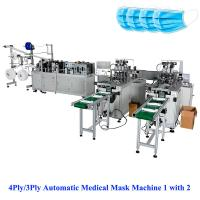 Quality 3Ply/4Ply Automatic non woven mask making Machine 1 with 2, mask making machine,automatic face mask making machine for sale