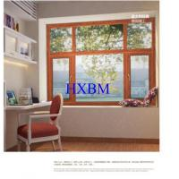 China Contemporary Home Aluminium And Wood Windows , 5mm Glass Double Glazed Windows on sale
