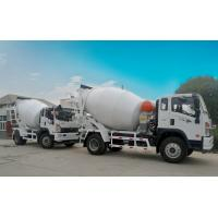 Quality White Concrete Mixer Truck , 5 Cubic Meter Front Discharge Concrete Truck for sale