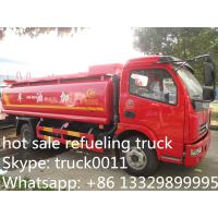 China Dongfeng 6 Wheel 8000L Gasoline Transport Fuel Tank Truck, hot sale fuel tank for sale, dongfeng fuel dispenser truck on sale