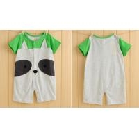 Quality Cute design newborn short-sleeved 100%cotton rompers babywear for sale