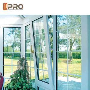 China Horizontal Opening Pattern Tilt And Turn Aluminium Windows , Wooden Double Glazed Window on sale