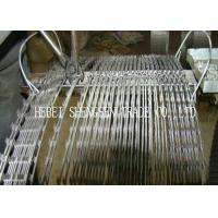 Popular Concertina Fencing Wire , Hot Dipped Galvanized Barbed Wire For Prison Fence