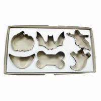 Quality 6 Pieces S/S Cookie Cutters, Used for Halloween for sale