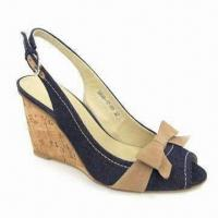 Quality Wedge Shoes, Suitable for Ladies, Upper made of Genuine Leather, Also Available in Black for sale