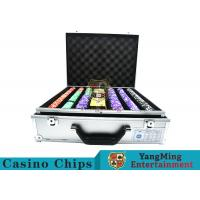Quality Stripe Suited Casino Poker Chip Set , 12g Poker Chip Sets With Denominations for sale