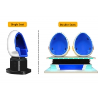 Quality 2 Person 9D Cinema Simulator / Electric System Virtual Reality Egg Chair for sale