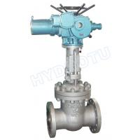 Quality PN 0.25 - 6.4 Mpa Electric/ Manual Flanged Gate Valve / Sluice Valve for Hydro Power Station for sale