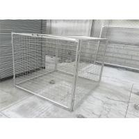 Quality Hot Dipped Galvanized 42 Microns Rubbish Cage With 12 Clamps for sale