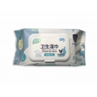 Quality 80 PCS Personal Care Antibacterial Wet Wipes Oil Olive Essence Pearl Pattern for sale