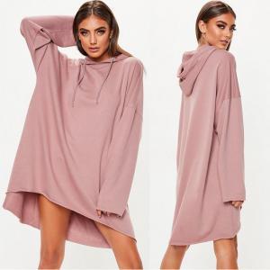 China Custom Rose Oversized Hoodie Printing Sweater Dress on sale