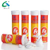 China Natural Iron Effervescent Tablets OEM Available For Women Iron Supplement on sale