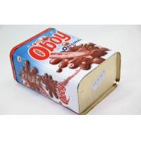 Buy cheap Customize Big Chocolate Tin Box Printing , Rectangular Metal Tins from Wholesalers