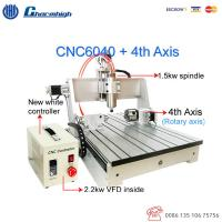 China Wood Metal Engraving CNC 6040 4 Axis Router Machine / Small CNC 4 Axis Milling Machine on sale