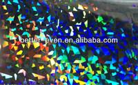 Quality PVC PP PE Holographic Foil Printing , Christmas Cards Silver Laminated Paper for sale