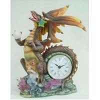China Polyresin dragon clock from China on sale