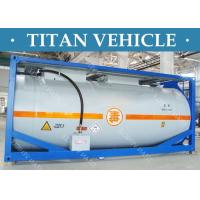 Quality Carbon Steel ISO Tanker container , 20ft Diesel Fuel LNG LPG Transport Tank Container for sale