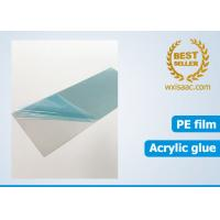 China Bright annealed stainless steel scratch protector / low tack protective film 25 micron x 1220mm x 1000 meters on sale