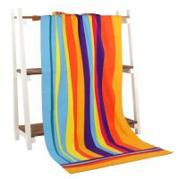 Rainbow Oversized Beach Towels Reactive Printing And Rectangle Shape