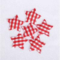 China Hair Accessories Ultrasonic Embossing Flowers Crafts Gingham Star 4.8cm for sale