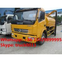 China hot sale dongfeng Euro  4  4cubic meters fecal suction truck, factory direct sale 4cubic meters vacuum suction truck, on sale