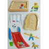 kindergarten playground make your own sticker / decorative desk stickers for sale